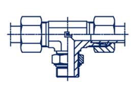 Т-образные UNF уплотнение тип Н в сборе с В4