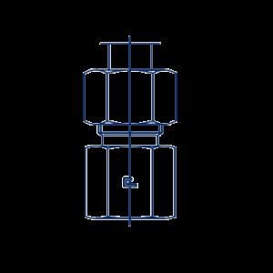 Штуцера прямые ввертные метрика в сборе с В3
